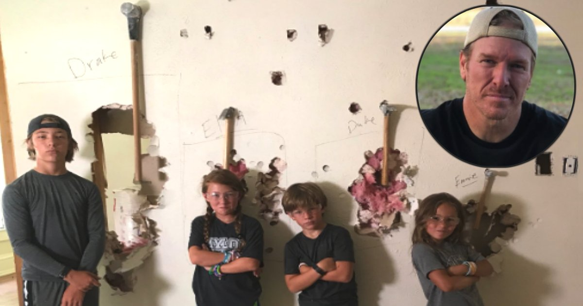 chip gaines brings his kids to construction sites fb