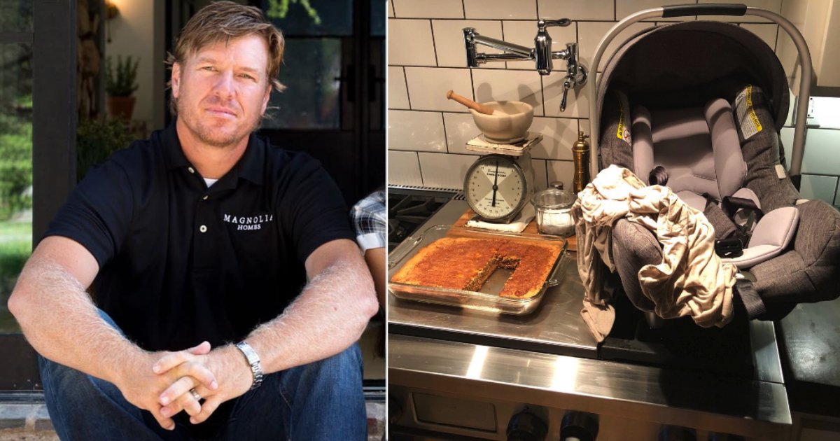 chip gaines car seat photo cornbread outrage_FB