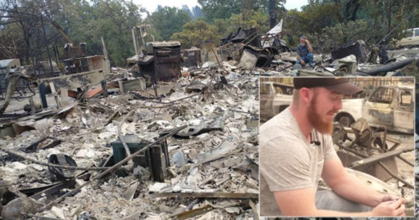 Grandpa In Heaven Helps Man Find Hidden Treasure In Rubble Of Intense Fire