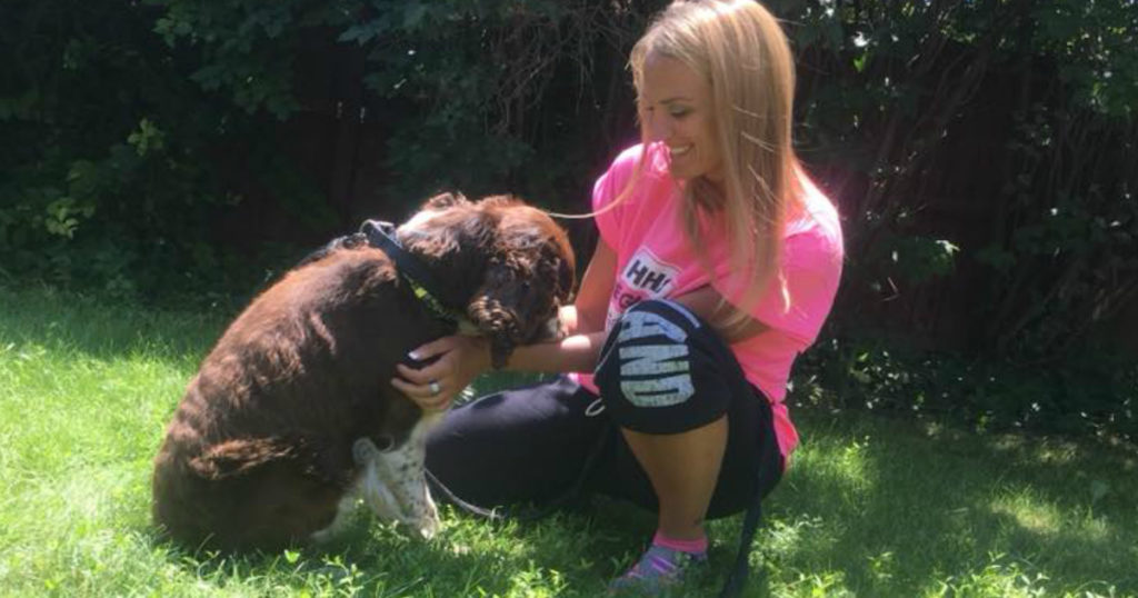 mom carried 55-pound injured dog down mountain 4