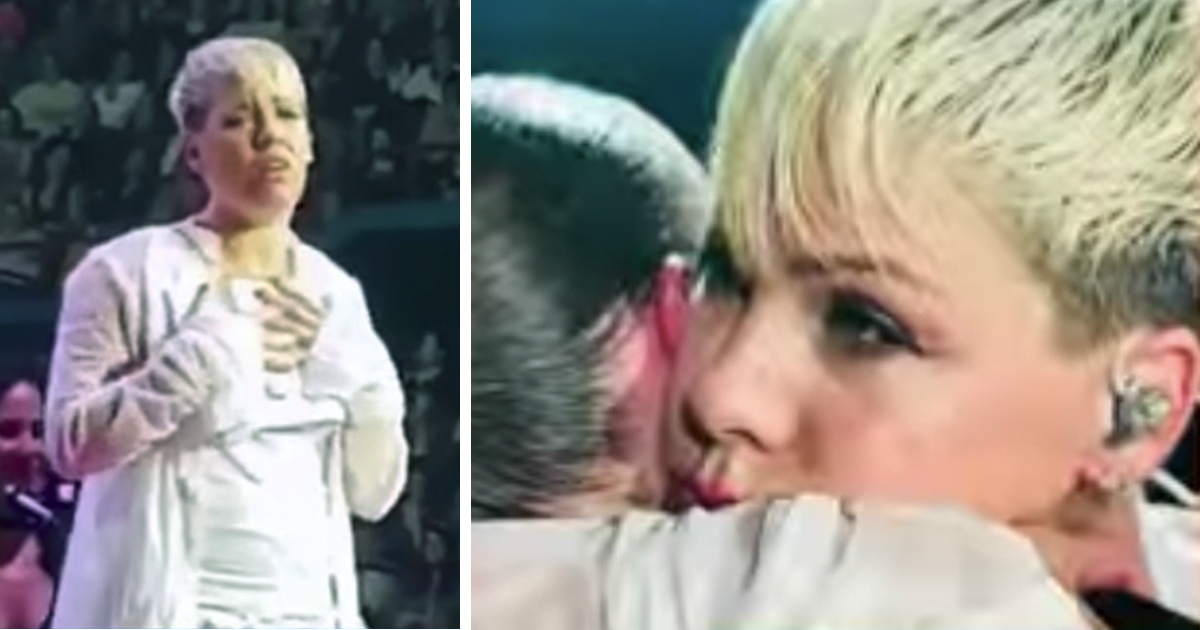 pink stopped her concert to comfort grieving fan fb