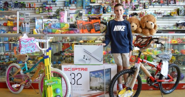 Young Boy Cashed In 268,000 Arcade Tickets to Give Prizes to Kids In Need