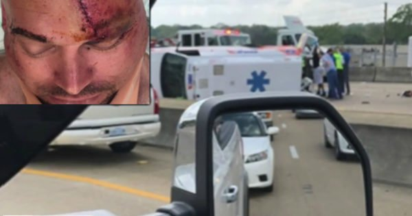 Drunk Driver Hits Ambulance, Scalping And Nearly Killing Paramedic Inside