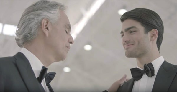 Andrea Bocelli Duets With Son For First Time Ever With 'Fall On Me'