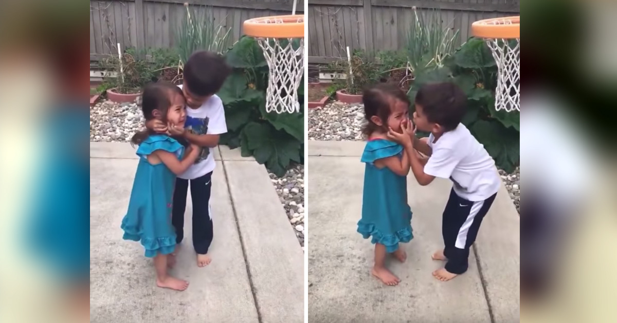 brother comforts sister basketball hit fb