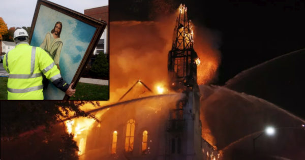 Jesus Painting Survives Flames That Ravaged 150-Year-Old Historic Church