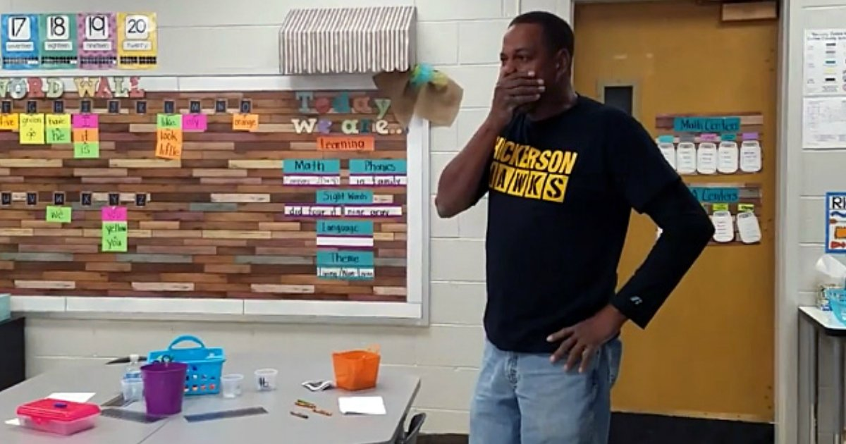 kindergarten class signed happy birthday deaf janitor