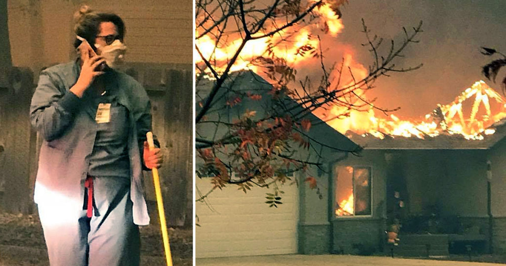 California nurse Tamara Ferguson survives wildfire fb
