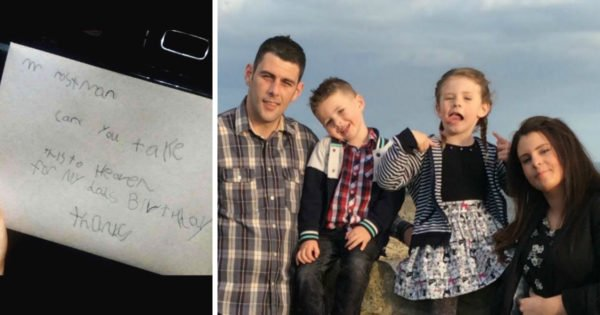 Boy Mails Birthday Card To Daddy In Heaven And Gets An Unbelievable Reply