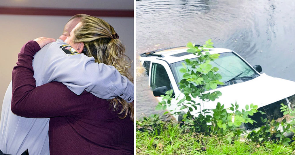 woman trapped in a sinking car kelly carter fb