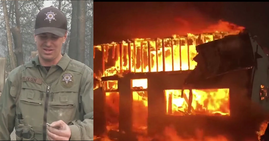 Officer Finds Wife's Lost Ring After Home Burns Down In California Wildfire
