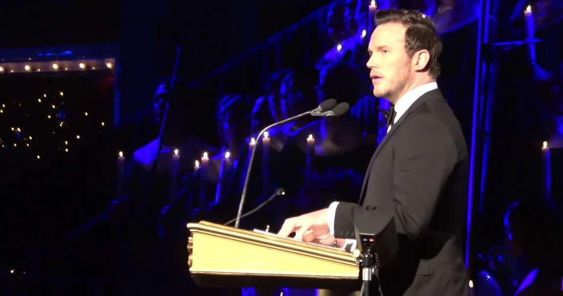 Chris Pratt Reads Nativity Story from Bible at Disneyland's Candlelight Service