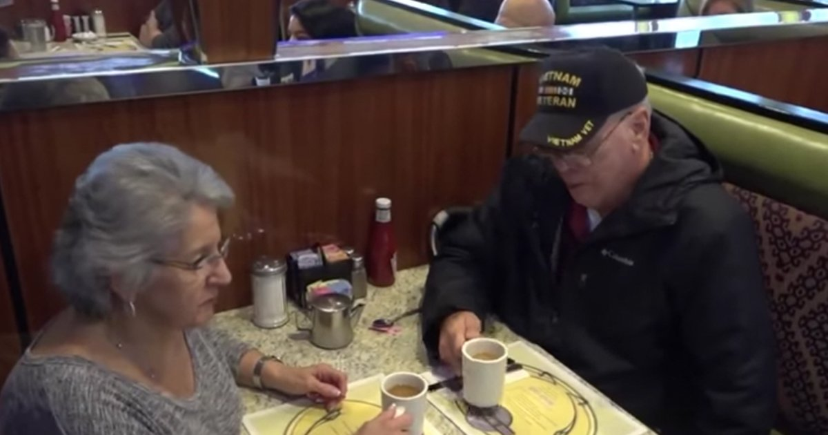 Mystery Woman Pays For Disabled Vietnam Veteran's Meal In An Act Of Kindness
