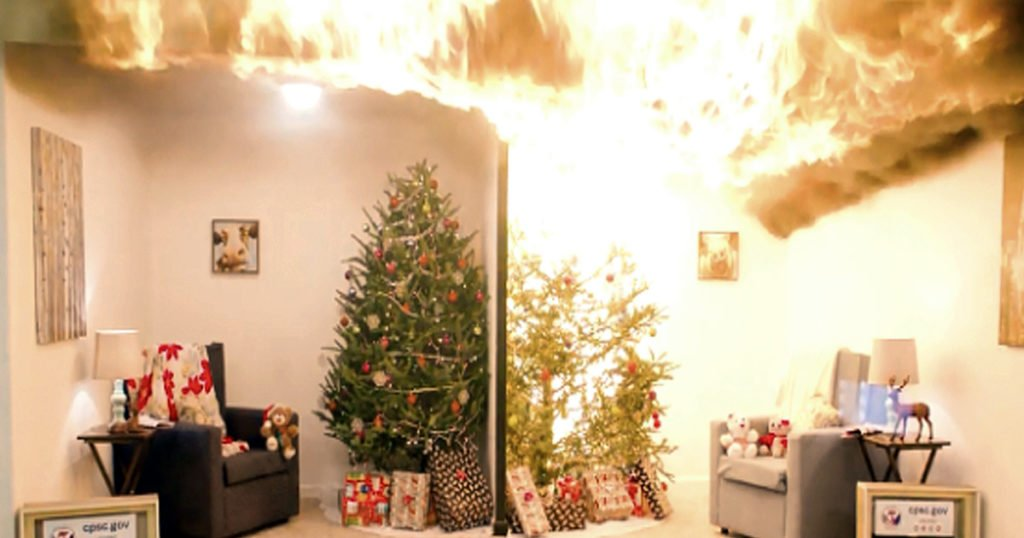 christmas tree fires warning