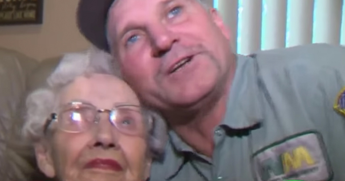 Trash Truck Driver Saves 93-Year-Old