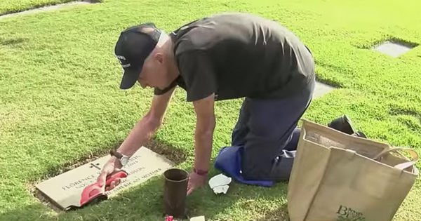 93-Year-Old Widower Visits Wife's Grave 1,300+ Times