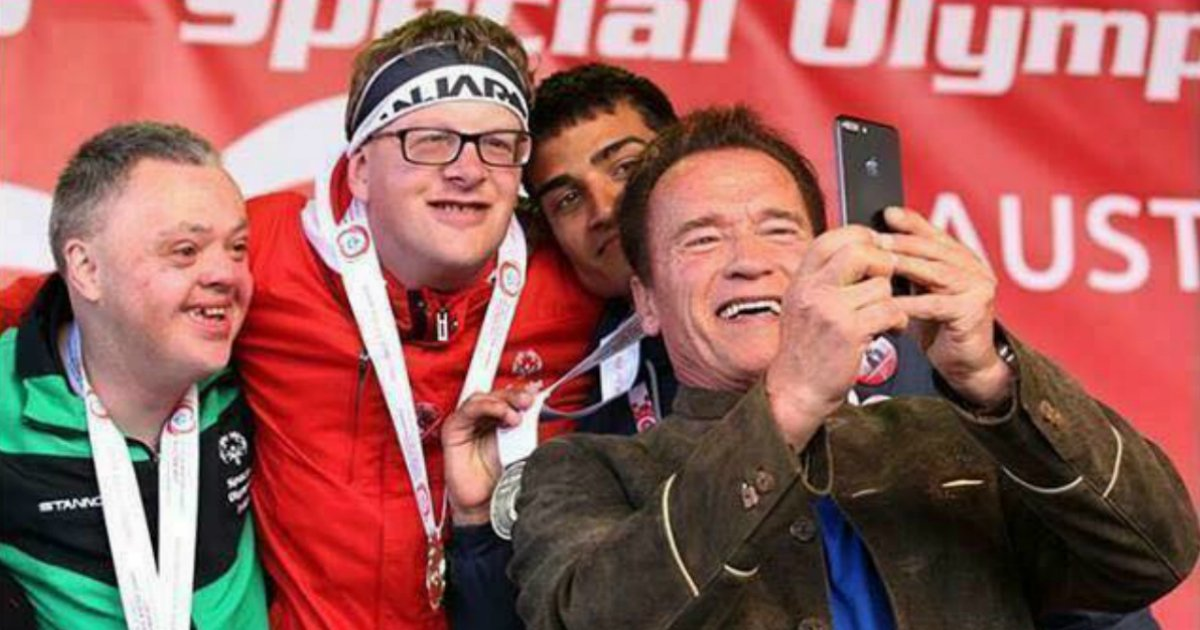 Arnold Schwarzenegger defended the special olympics