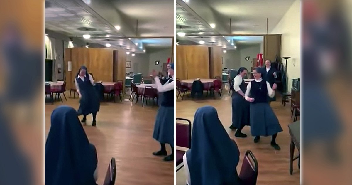 nuns dance to we will rock you by queen