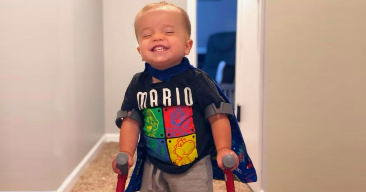 toddler with spina bifida walked roman dinkel fb