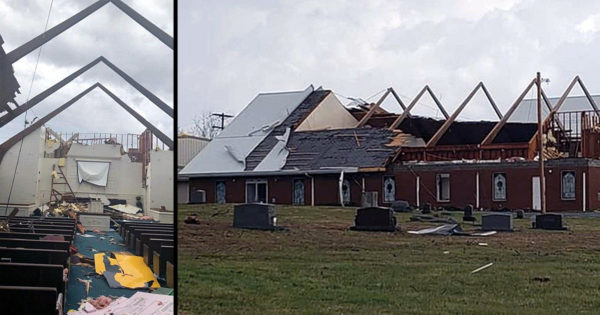 Preschoolers Sing 'Jesus Loves Me' As Tornado Rips Roof Off Their Church