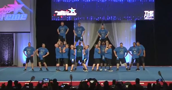 Funny Cheer Dads Entertain The Crowd With Dance Routine At Championships