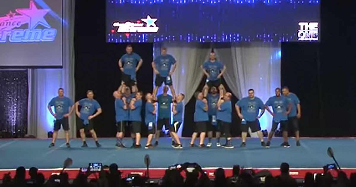 funny cheer dads national championship routine