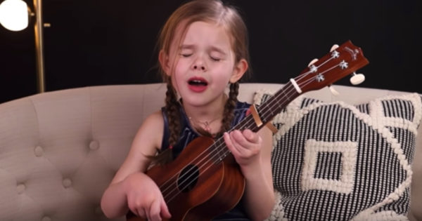 6-Year-Old Claire Crosby Ukulele Cover Of 'Can't Help Falling In Love'