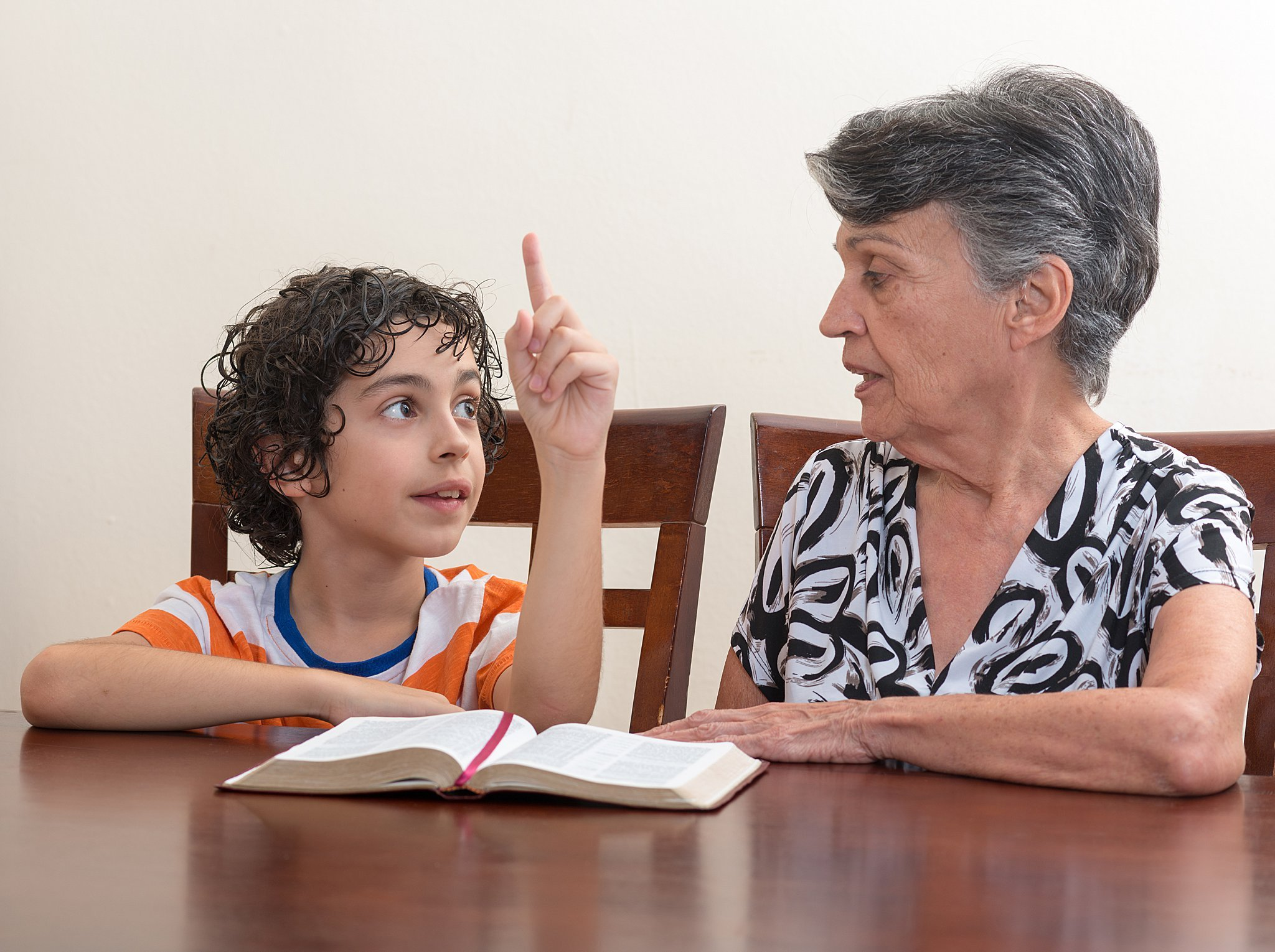 how to share your faith with anyone - grandmother & grandson