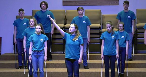20 Teens With Student Stick Ministry Give Powerful Performance Set To Lauren Daigle's 'You Say'