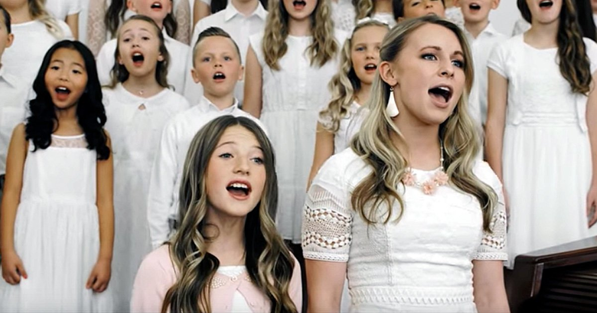 children singing 'risen' easter song shawna edwards inspirational music video