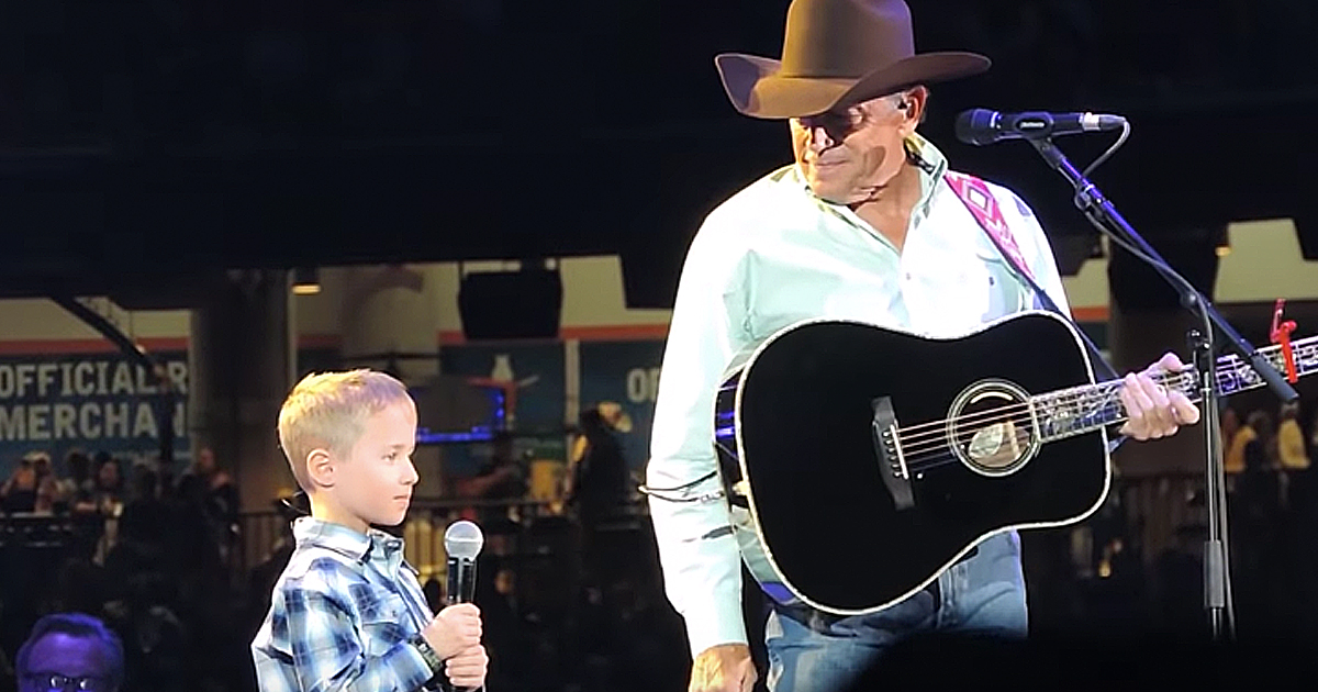 george strait and grandson duet god and country music