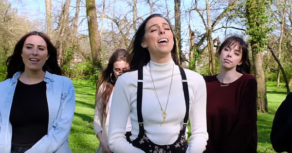 6 Sisters Sing Worship Medley Of 'I Can Only Imagine/What A Beautiful Name' And It's Amazing