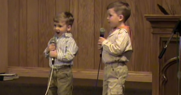 'Up From The Grave He Arose' 2 Adorable Brothers Sing Classic Easter Hymn