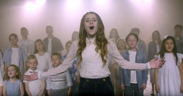 50 Children Sing 'What A Beautiful Name' In Angelic Choir With Reese Oliveira