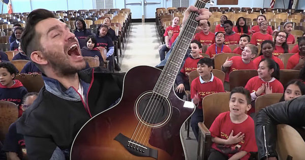 Andy Grammer And The PS22 Chorus Sing A Moving Rendition Of 'Don't Give Up On Me'