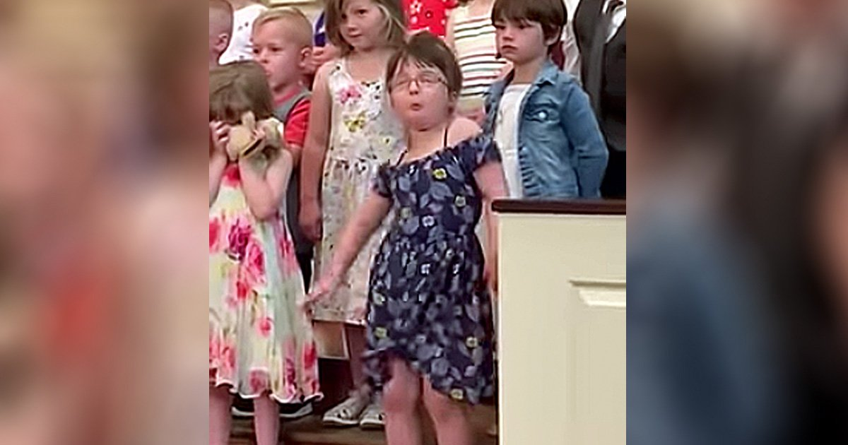 little girl dancing at graduation funny