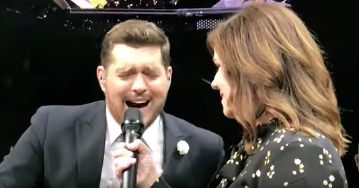 michael buble sings with 6th-grade teacher disney duet