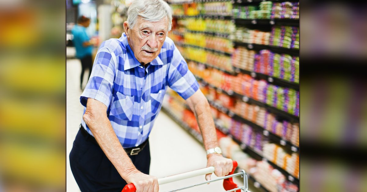 elderly man in supermarket adele barbaro