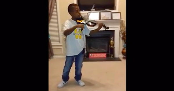 Violinist Tyler Butler-Figueroa From America's Got Talent Plays 'Blessed Assurance'