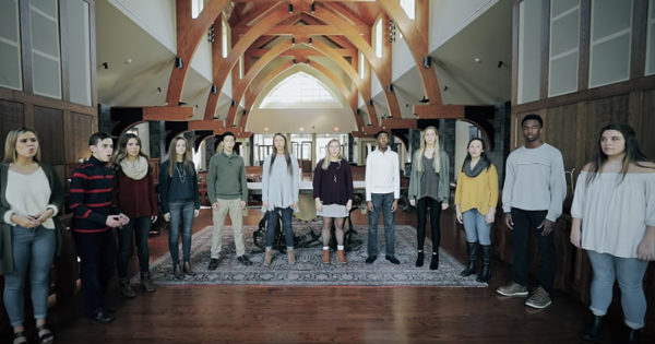 12 Choir Students Sing Beautiful A Cappella Cover Of 'How Great Thou Art'