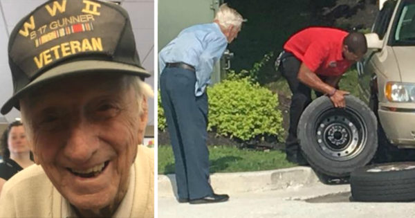 Chick-fil-A Manager Walks Out The Moment Rattled 96-Year-Old Veteran Mentions Flat Tire