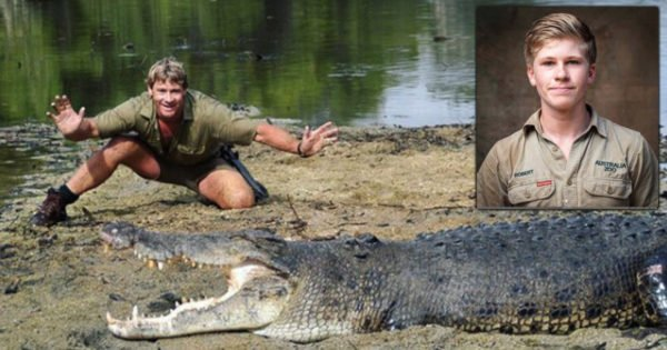 Steve Irwin's Son Shares Photos of Him and His Dad Feeding Same Crocodile, 15 Years Apart
