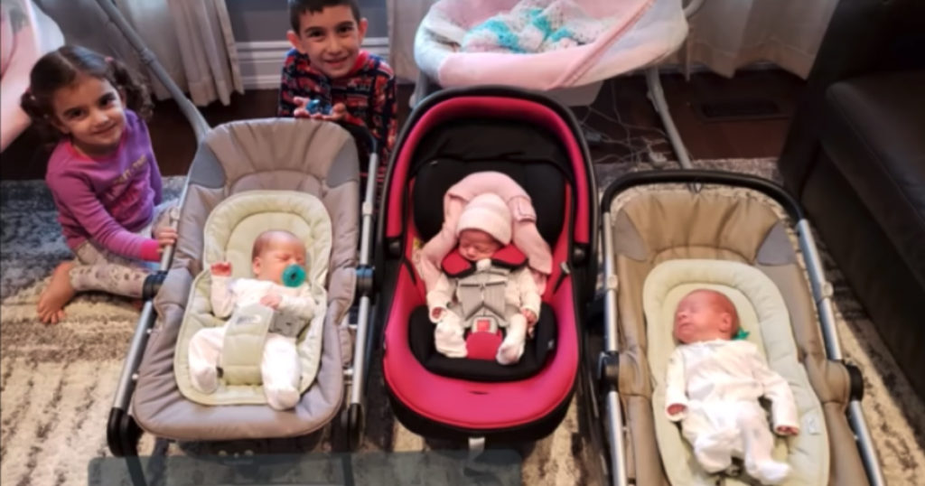 having triplets dad reaction stephanie valas