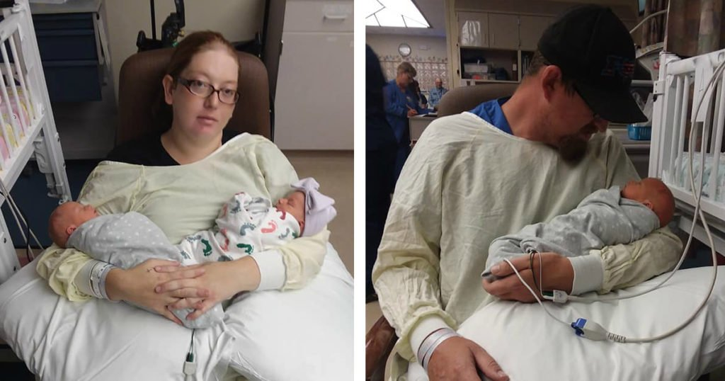 labor pain unexpected triplets dannette giltz