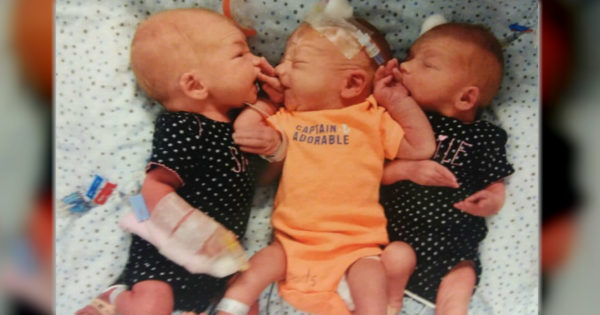 Woman Rushes To Hospital For Kidney Stone Pain But Comes Home With Newborn Triplets