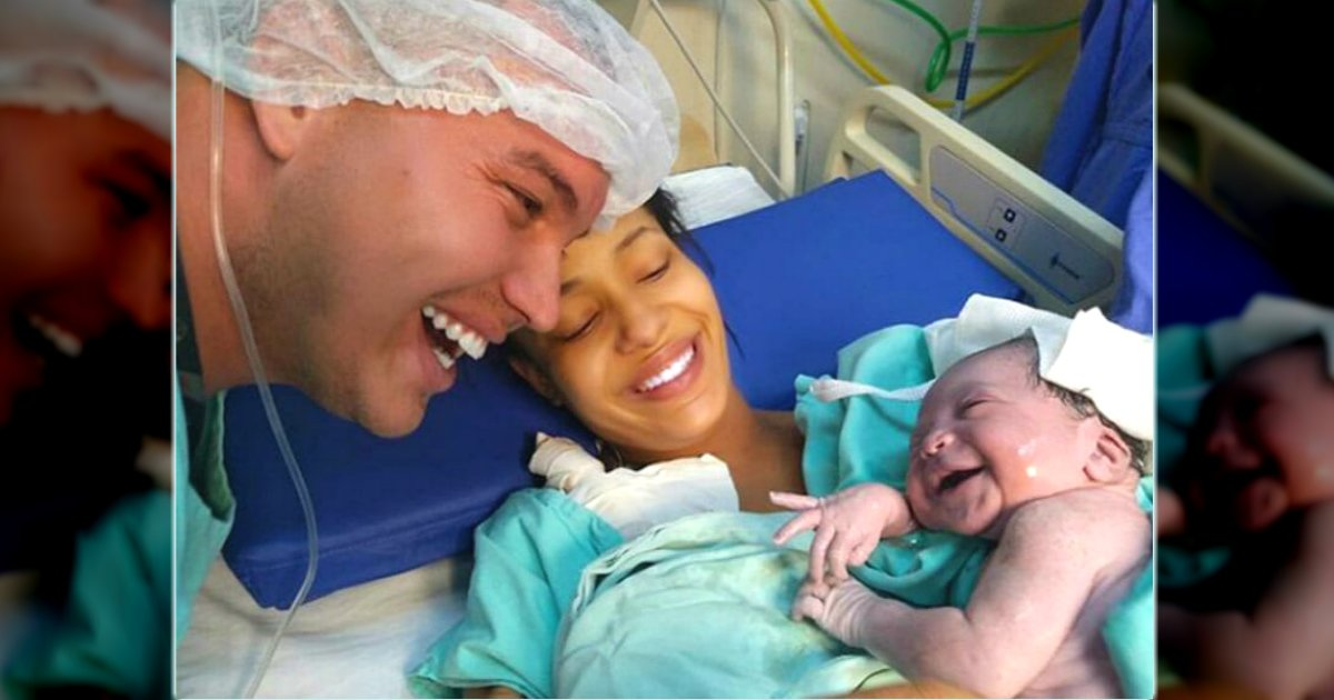 baby smiles dad's voice