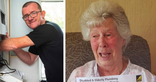 Hero Plumber Hands 91-Year-Old $0 Bill And She's Only 1 Of Thousands He's Blessed