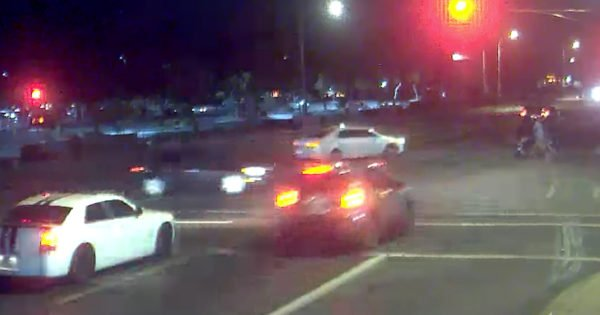 Couple Narrowly Escape Drunk Driver While Pushing Stroller Through Intersection