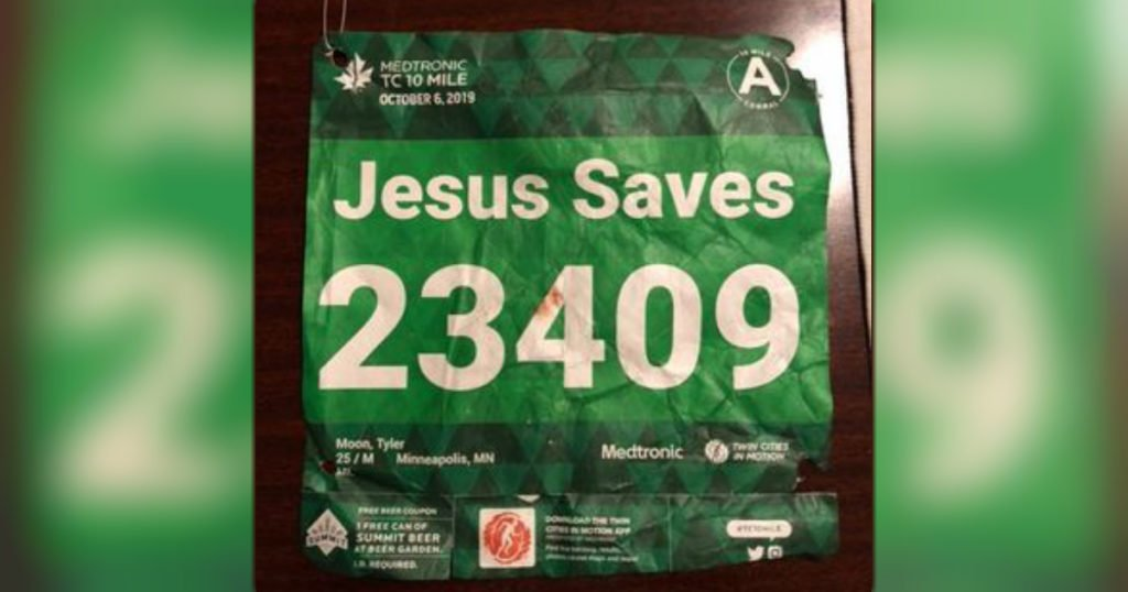 jesus saves tyler moon bib