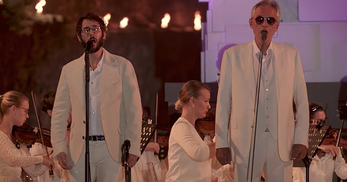 Andrea Bocelli and Josh Groban duet 'We Will Meet Once Again'